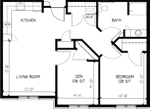 Valley Villas Assisted Living Two Bedroom Floorplan
