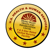 U.S. Health & Human Services Spring Valley Health and Rehabilitation Center 5 Star Logo
