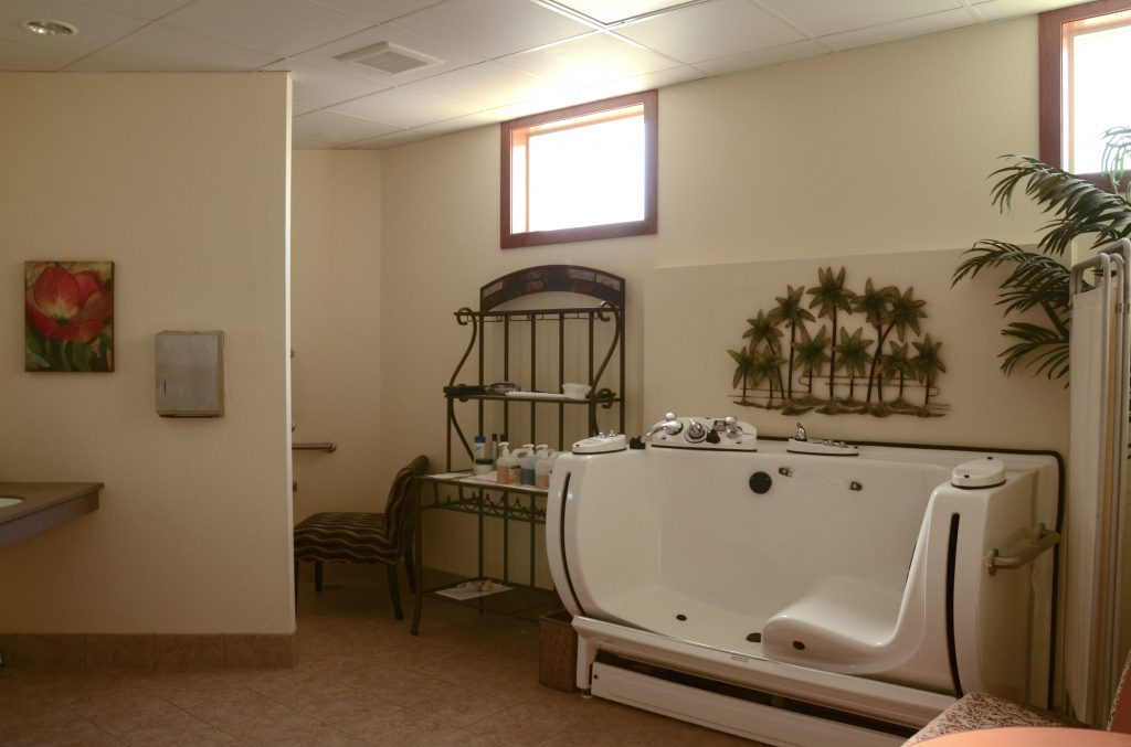 Walk-in spa tub